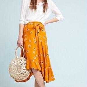 Anthropologie Faithfull Belted Botany Skirt
